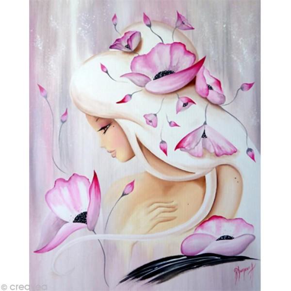 Image 3D Femme - Lilou rose poudré 40 x 50 cm - Photo n°1