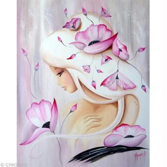 Image 3D Femme - Lilou rose poudré 40 x 50 cm