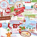 Die cut - Le Noël des lutins - 45 mots en papier - Photo n°2