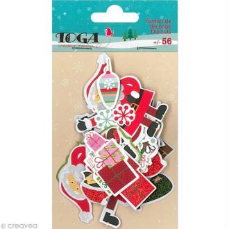 Die cut - Le Noël des lutins - 56 formes en papier