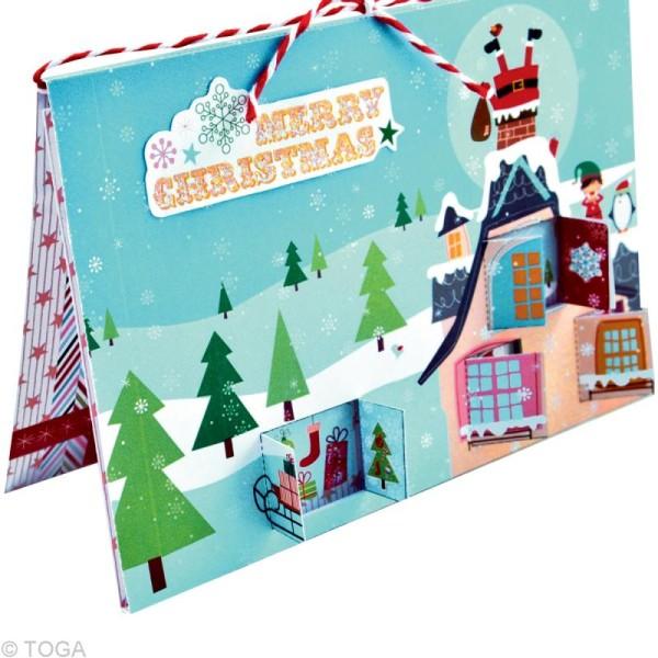 Set de carterie - Le Noël des lutins - Kit 10 cartes de voeux - Photo n°2