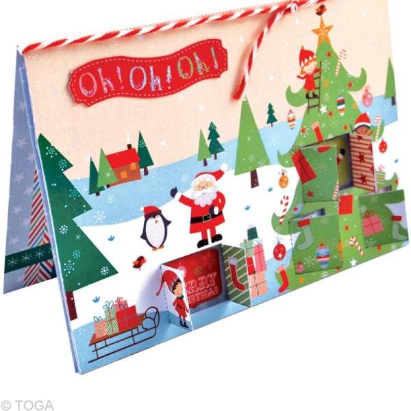 Set de carterie - Le Noël des lutins - Kit 10 cartes de voeux - Photo n°3