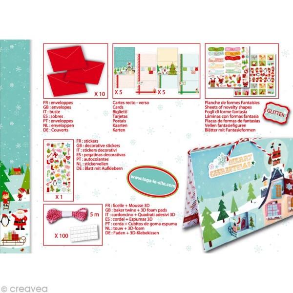 Set de carterie - Le Noël des lutins - Kit 10 cartes de voeux - Photo n°4