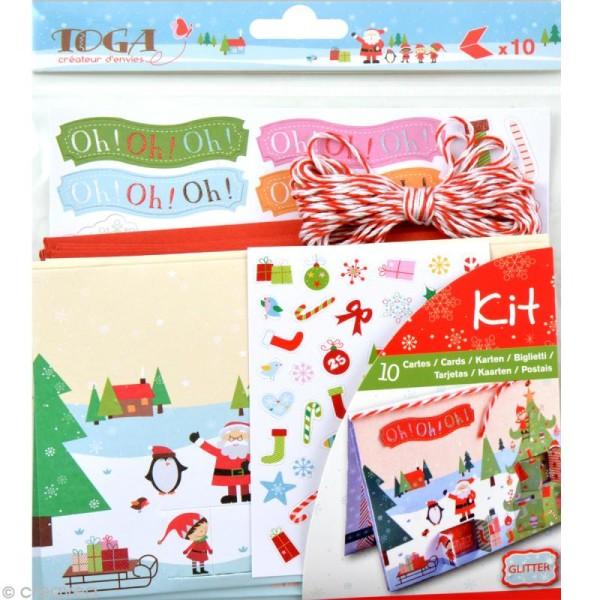 Set de carterie - Le Noël des lutins - Kit 10 cartes de voeux - Photo n°1