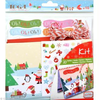 Set de carterie - Le Noël des lutins - Kit 10 cartes de voeux