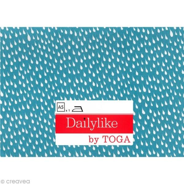 Dailylike Gouttelette bleu - Tissu thermocollant A5 - Photo n°2