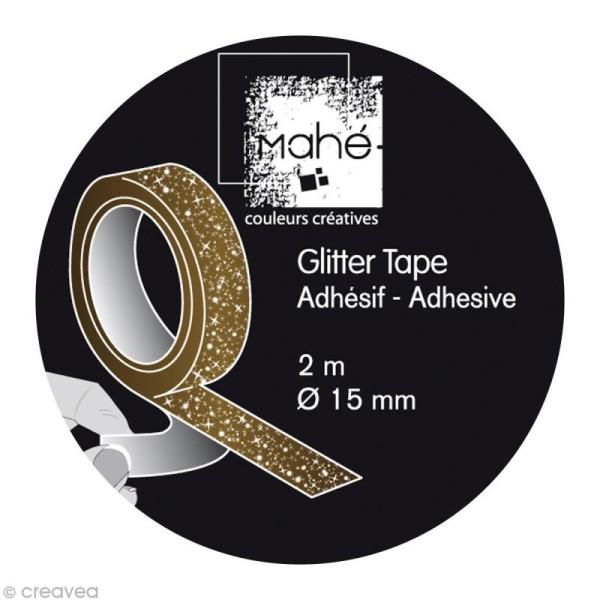 Glitter tape Mahé - Or x 2 m - Photo n°2