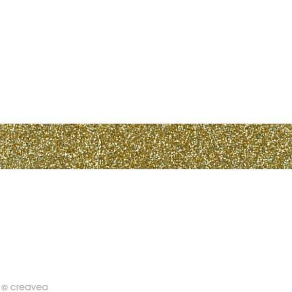 Glitter tape Mahé - Or x 2 m - Photo n°1