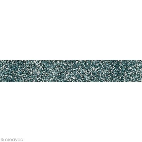 Glitter tape Mahé - Argent x 2 m - Photo n°1