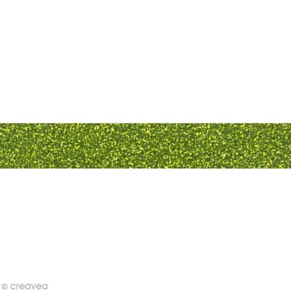 Glitter tape Mahé - Vert x 2 m - Photo n°1