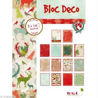 Papier scrap P'tit Bloc Forêt enchantée 15 x 20 cm - 28 feuilles
