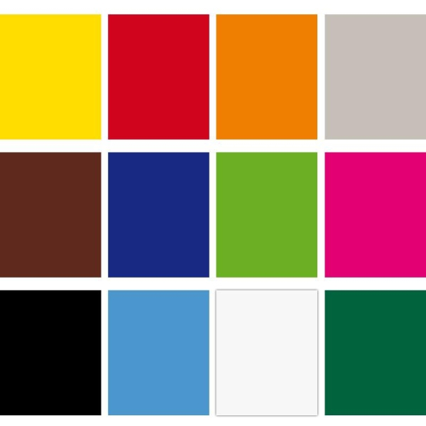 Assortiment Feutrine polyester 1,3 mm 24 x 30 cm - 12 coupons - Photo n°1