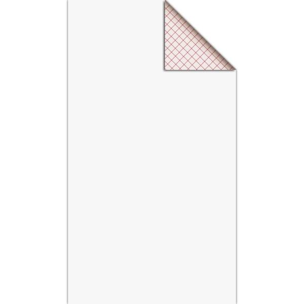 Feutrine adhésive polyester 1 mm 25 x 45 cm - Blanc - Photo n°1