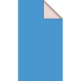 Feutrine adhésive polyester 1 mm 25 x 45 cm - Bleu azur