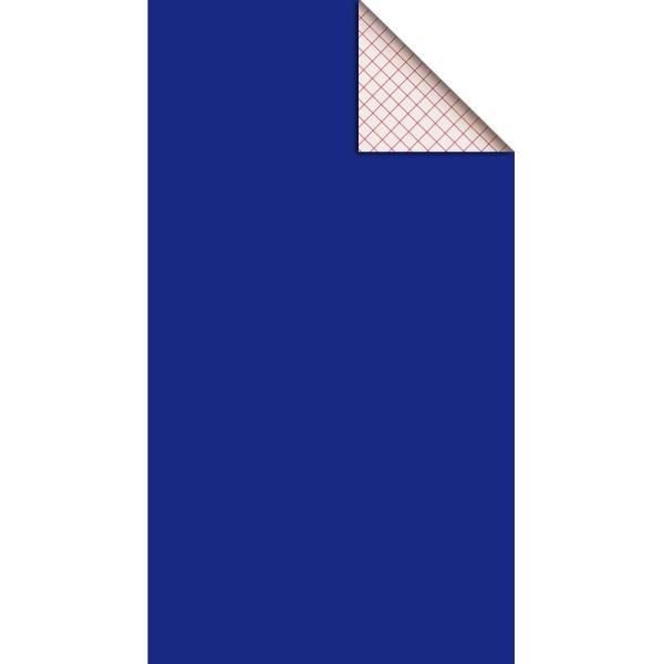Feutrine adhésive polyester 1 mm 25 x 45 cm - Bleu électrique - Photo n°1