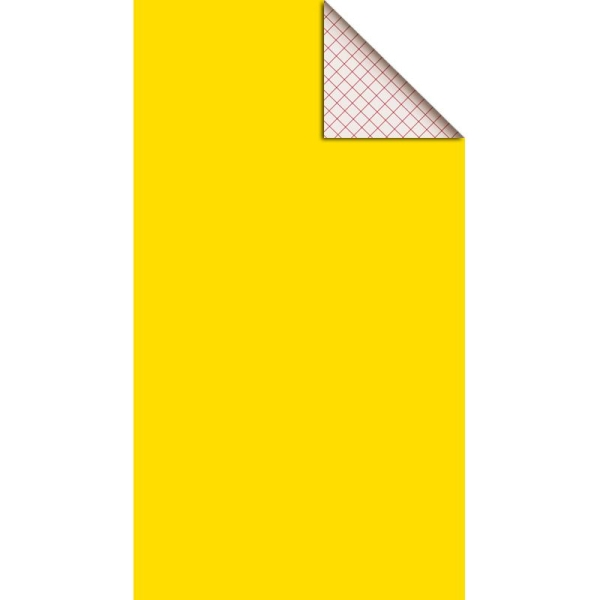 Feutrine adhésive polyester 1 mm 25 x 45 cm - Jaune - Photo n°1