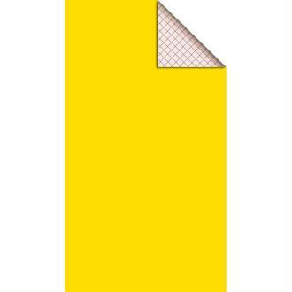 Feutrine adhésive polyester 1 mm 25 x 45 cm - Jaune