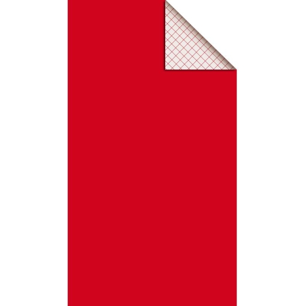 Feutrine adhésive polyester 1 mm 25 x 45 cm - Rouge - Photo n°1