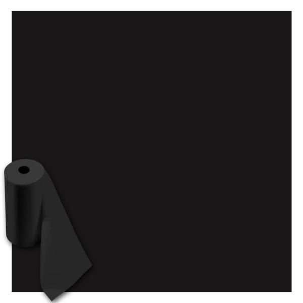 Rouleau feutrine polyester 1 mm 45 cm x 10 m - Noir - Photo n°1