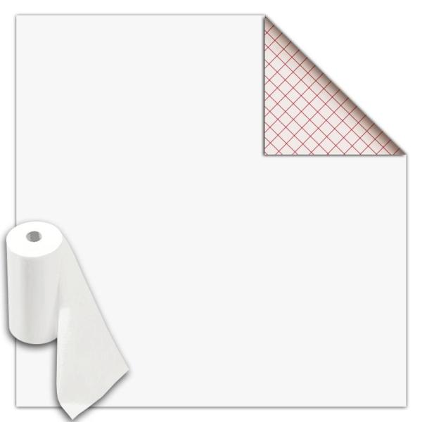 Rouleau feutrine autocollante polyester 1 mm 45 cm x 5 m - Blanc - Photo n°1
