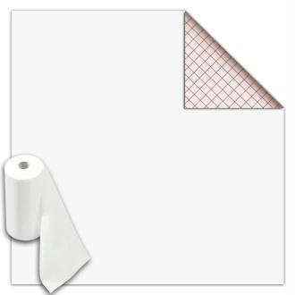 Rouleau feutrine autocollante polyester 1 mm 45 cm x 5 m - Blanc