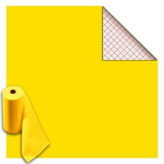 Rouleau feutrine autocollante polyester 1 mm 45 cm x 5 m - Jaune