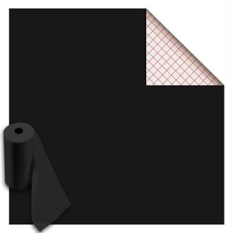 Rouleau feutrine autocollante polyester 1 mm 45 cm x 5 m - Noir