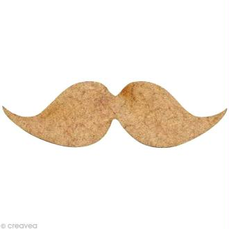 Forme en bois Moustache - N°3 - 4 cm