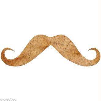 Forme en bois Moustache - N°6 - 4 cm