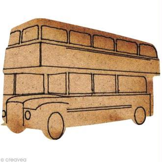 Forme en bois Londres - Bus impérial - 3,5 cm
