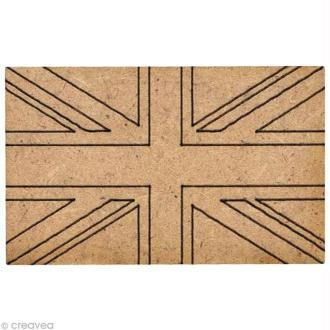 Forme en bois Londres - Drapeau GB - 4 cm