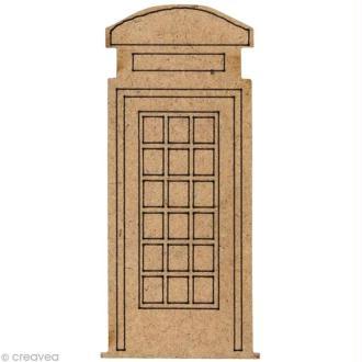 Forme en bois Londres - Cabine téléphone - 4 cm