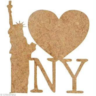 Forme en bois New York - I love NY - 4 cm