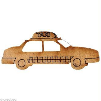 Forme en bois New York - Taxi Jaune - 5,5 cm