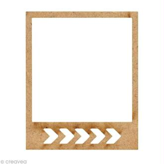 Forme en bois Petits Polaroïds - Petit chevron - 5,9 cm