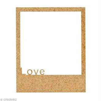 Forme en bois Petits Polaroïds - Petit love - 5,9 cm