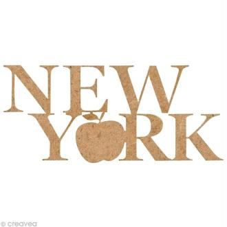 Forme en bois New York - Big Apple - 5,5 cm