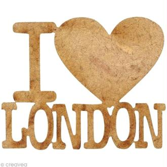 Forme en bois Londres - I love London -  3,6 cm