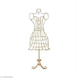 Forme en bois Mode - Mannequin fil coeur - 5,8 cm