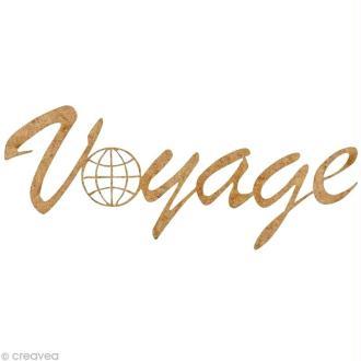 Forme en bois Divers - Voyage globe - 5,5 cm
