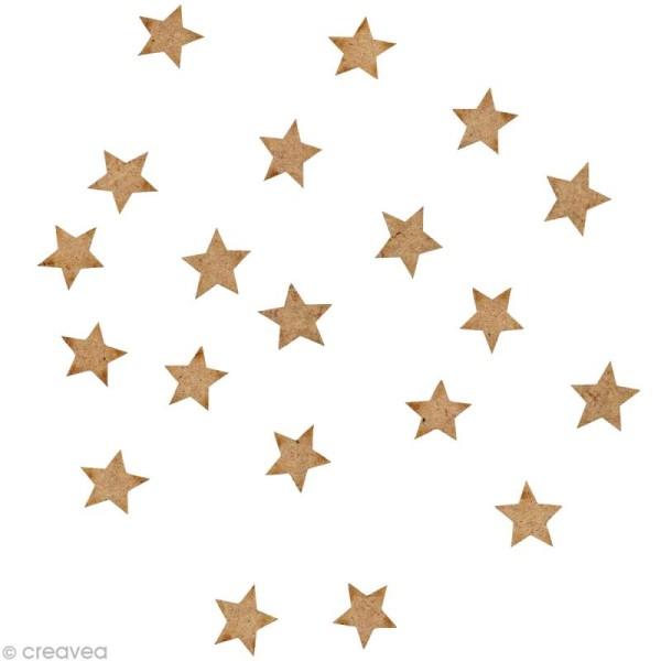 Forme en bois Divers - 20 étoiles - 1 cm - Photo n°1