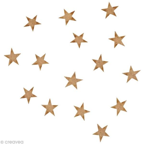 Forme en bois Divers - 15 étoiles - 1,5 cm - Photo n°1