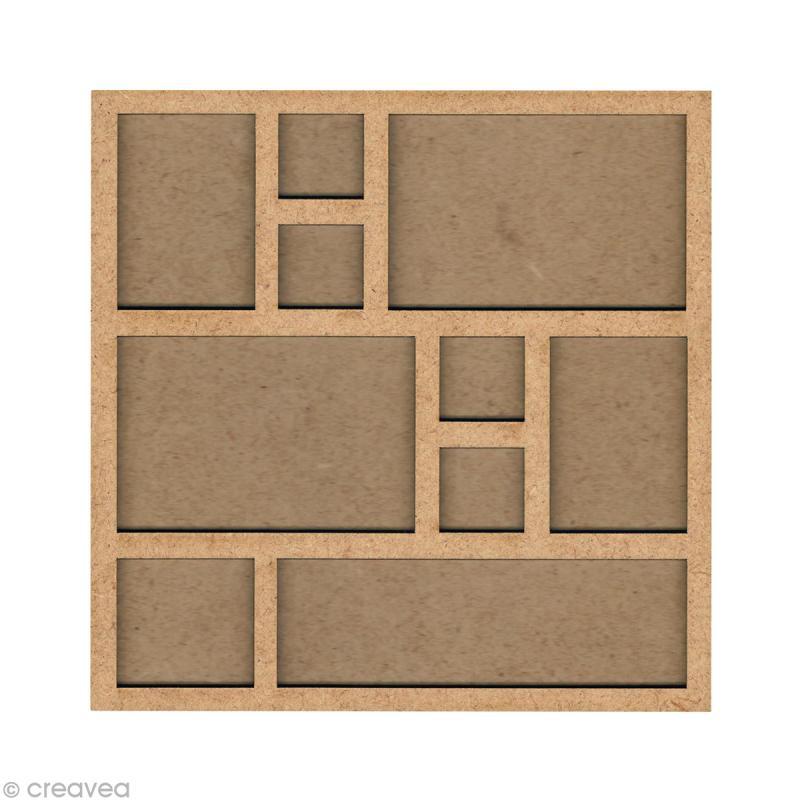 Forme en bois Cadre photo - 20 cm - Photo n°1