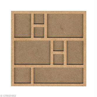 Forme en bois Cadre photo - 20 cm