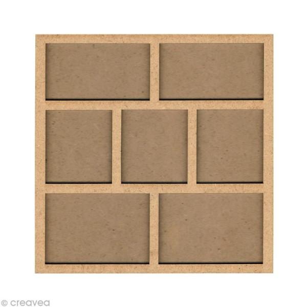 Forme en bois Cadre photo 2 - 20 cm - Photo n°1