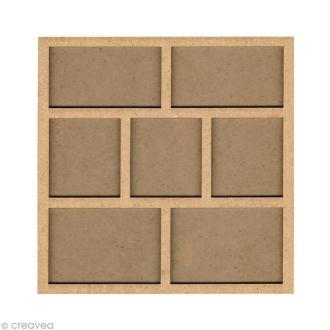 Forme en bois Cadre photo 2 - 20 cm