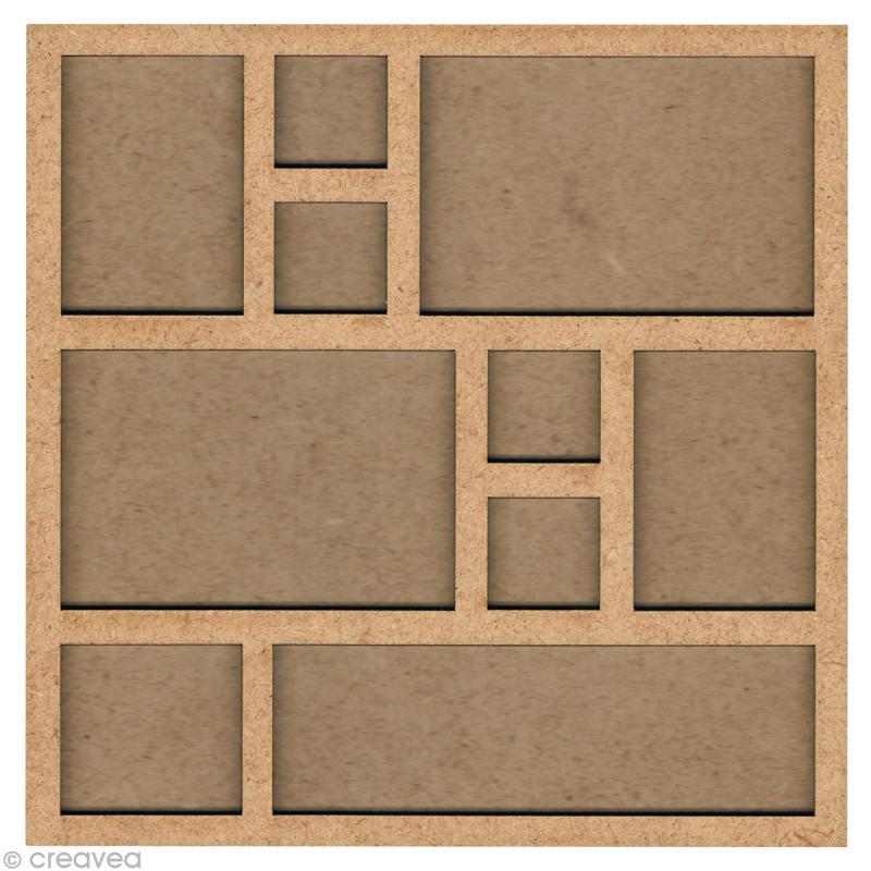 forme en bois cadre photo 31 cm cadre photo d corer creavea. Black Bedroom Furniture Sets. Home Design Ideas