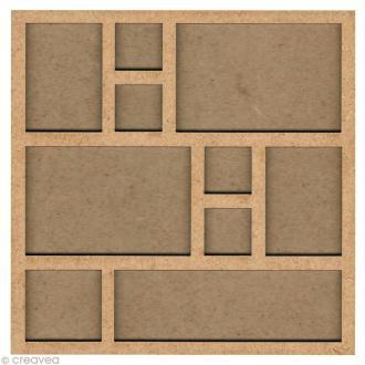 Forme en bois Cadre photo - 31 cm