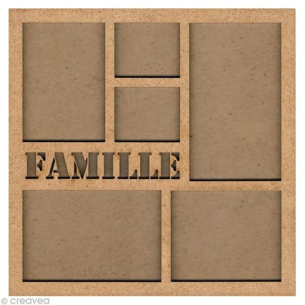 Forme en bois Cadre photo famille - 31 cm - Photo n°1