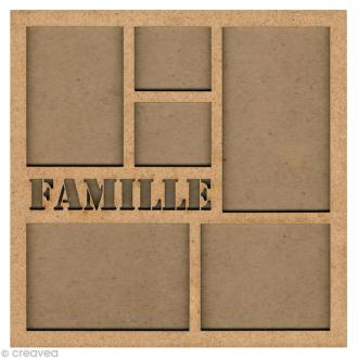Forme en bois Cadre photo famille - 31 cm